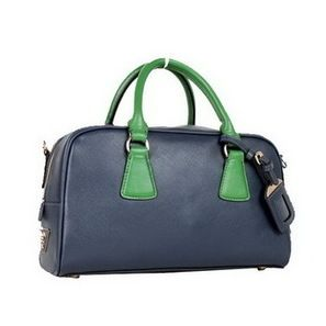d591c4331cd3c New Prada BL0758 Blue Saffiano Leather Bag