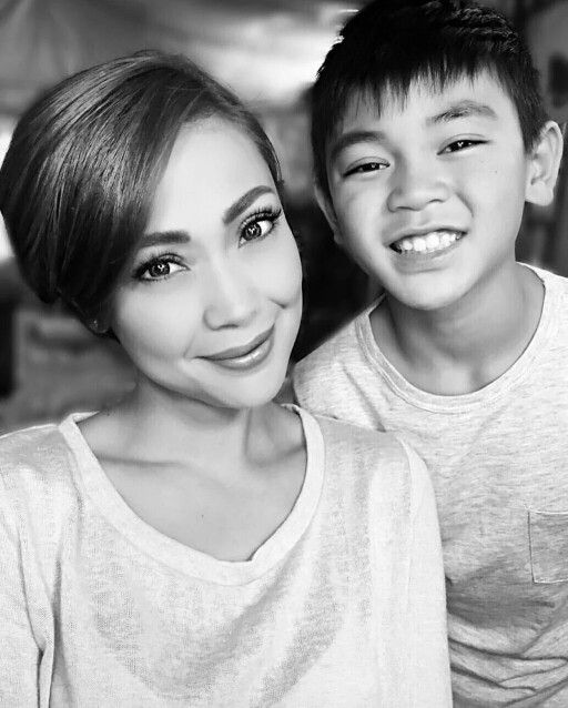 Jodi Sta Maria With Her Son Thirdylacson Mane Event Baby Face Maria