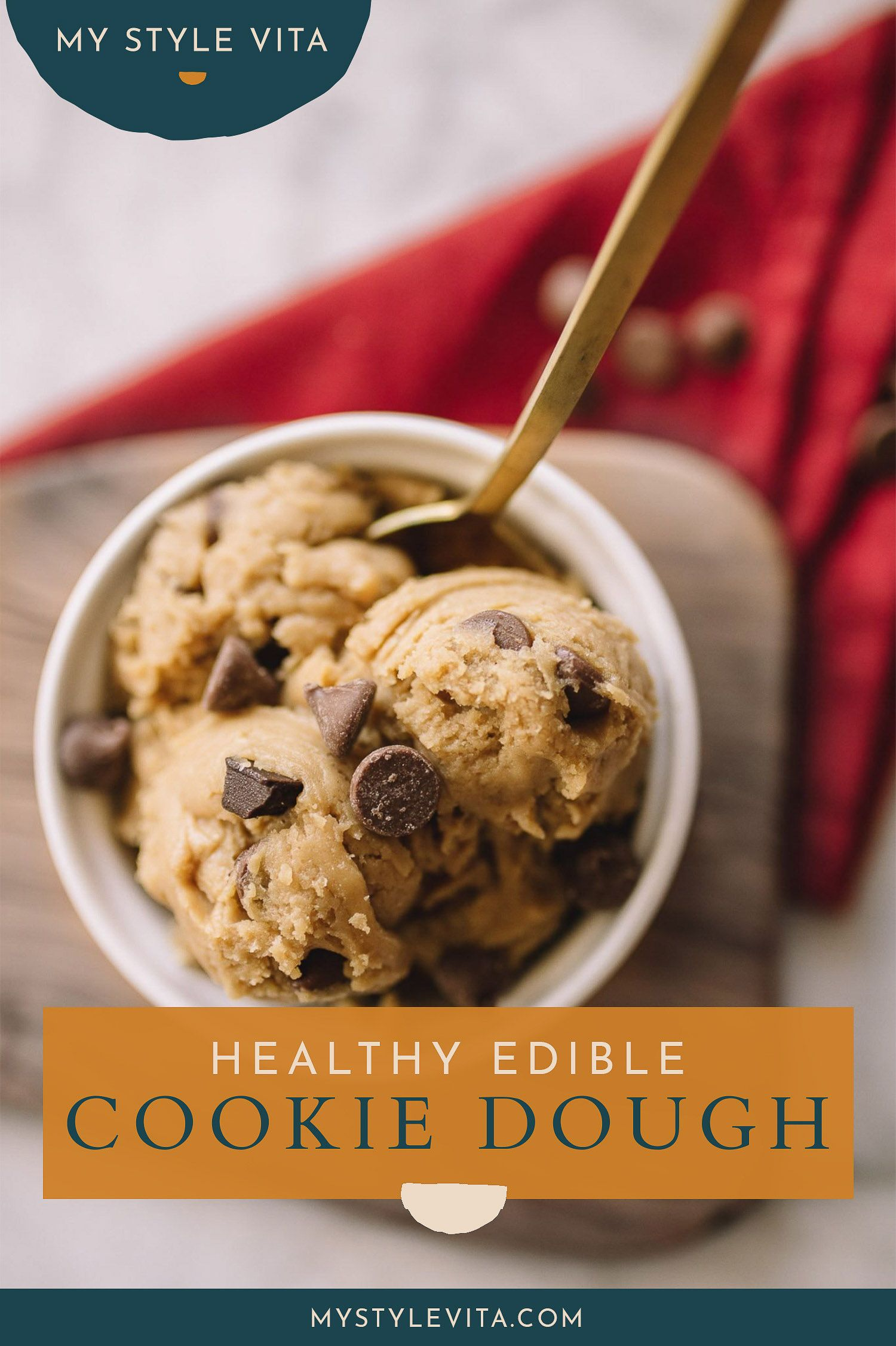 Healthy Edible Cookie Dough Recipe An Indigo Day Recipe In 2020 Cookie Dough Recipes Edible Cookie Dough Healthy Edible Cookie Dough Recipe