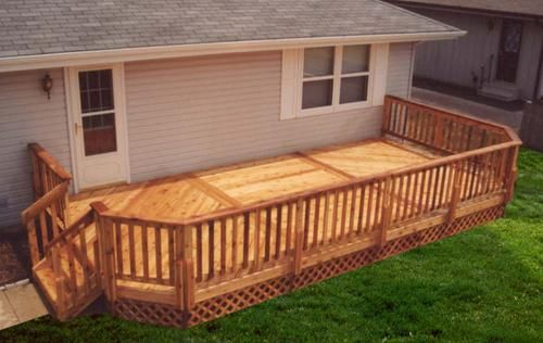 20 X 20 Deck With 10 Extension Building Plans Only At Menards