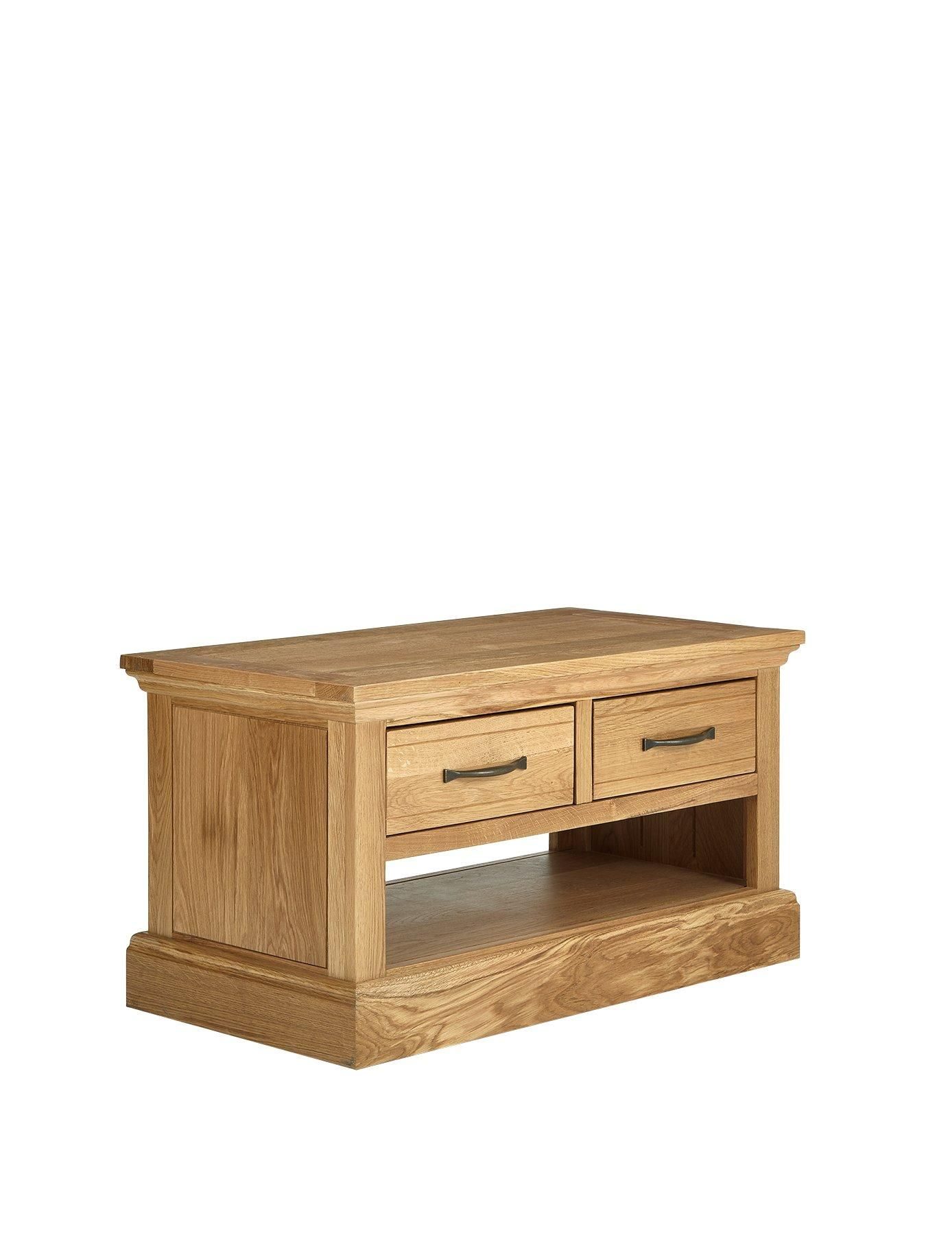 Luxe Collection Kingston 100 Solid Wood Ready Assembled Coffee Table Oak In 2020 Solid Wood Wood Kingston