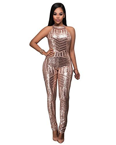 fa2d1bd3e3f2 Women Sexy Sleeveless Sequin Backless Bodycon Party Clubwear ...