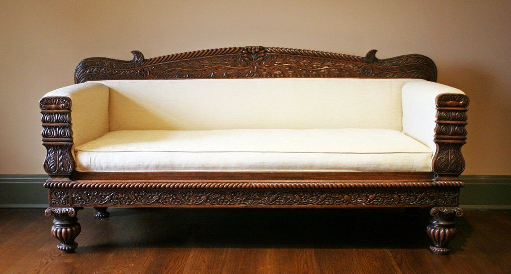 317 Anglo Indian Carved Settee Seat Height 19 Wooden Sofa Designs Carved Sofa Sofa Set