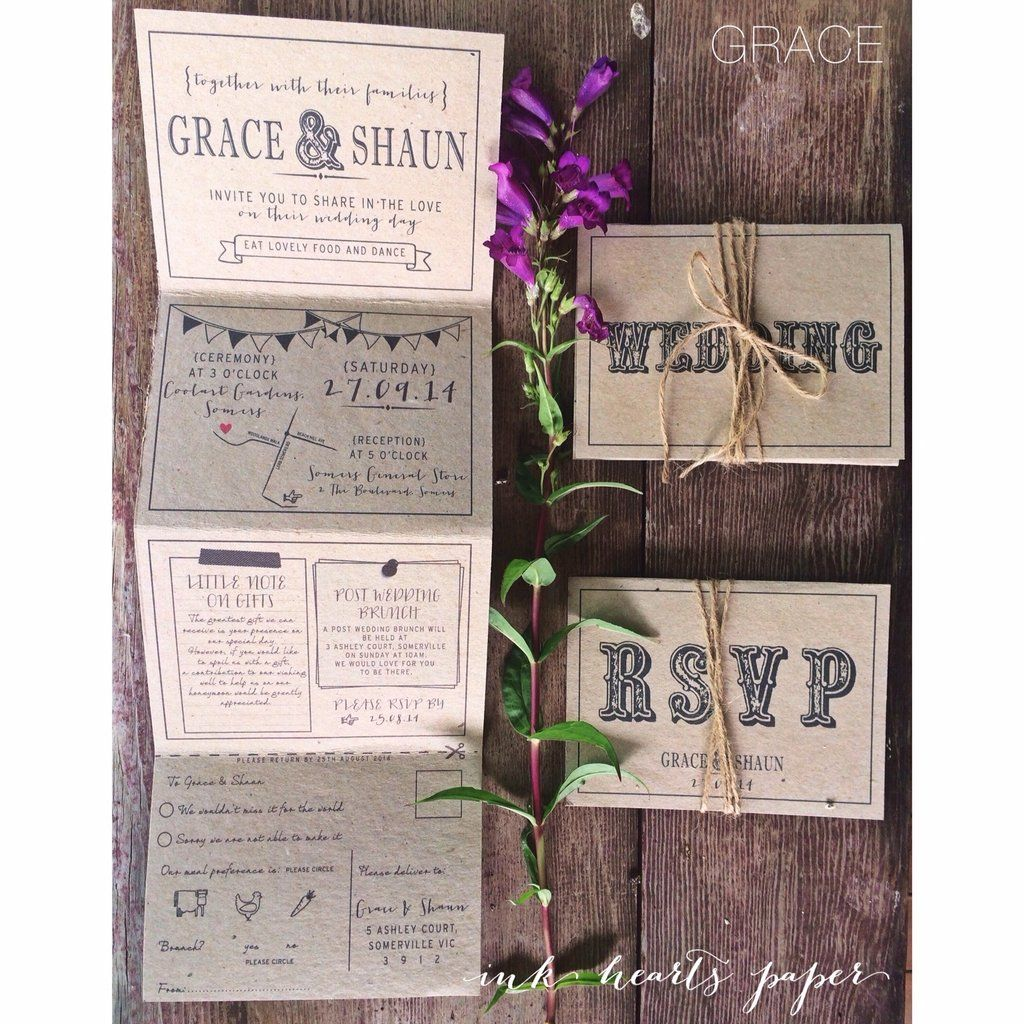 Price For Wedding Invitations: Price Guide The Grace Invitation Is 140x420mm In Size. It