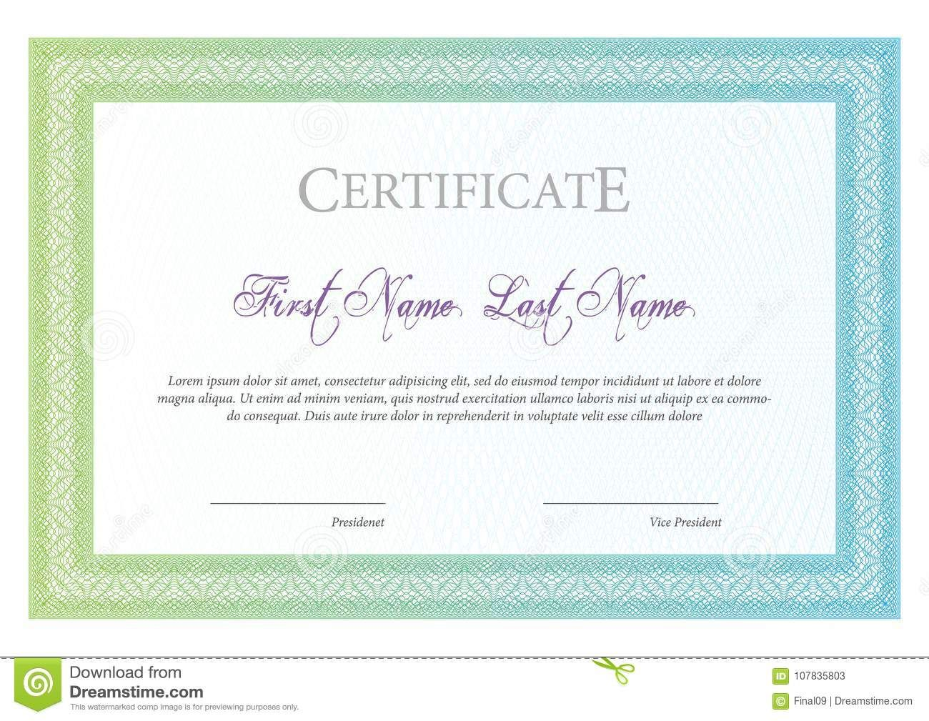 Certificate Template Diploma Currency Border Stock Vector Throughout Tennis Gi Gift Certificate Template Certificate Templates Free Gift Certificate Template Open office gift certificate template