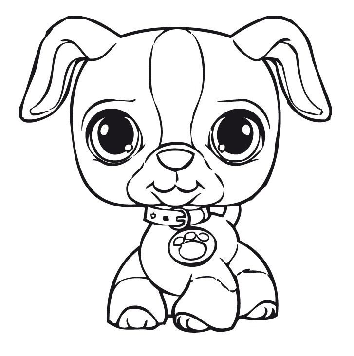 Littlest Pet Shop Coloring Pages Dibujos Pa Koloreo Puppy
