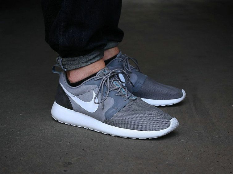 cheap for discount 5507d ea2fa 2018 Authentic Nike 636220 011 Roshe Run Hyperfuse Mens Light Cool Grey  Carbon Black