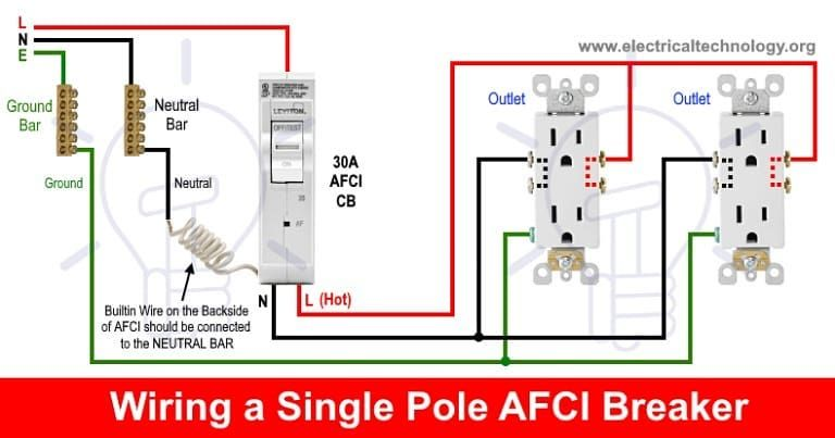 How To Wire An Afci Breaker Details Https Bit Ly 34ccnpq Electronic Engineering Types Of Electrical Wiring Breakers
