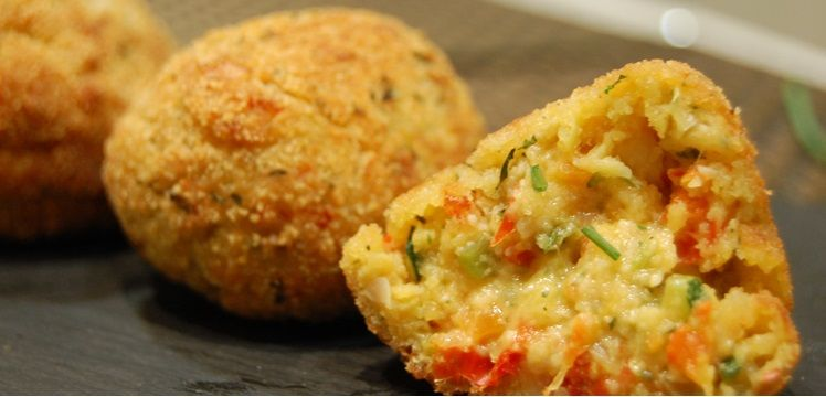 Croquetas de patatas con verduras