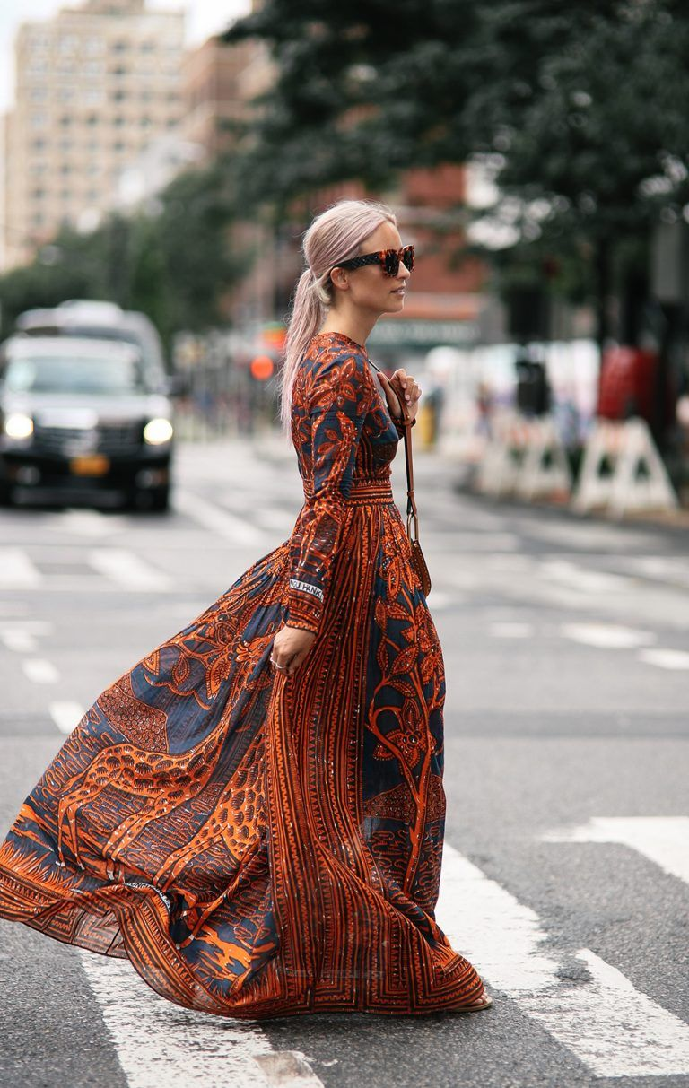 ways to style a floral maxi for fall the edit floral maxi