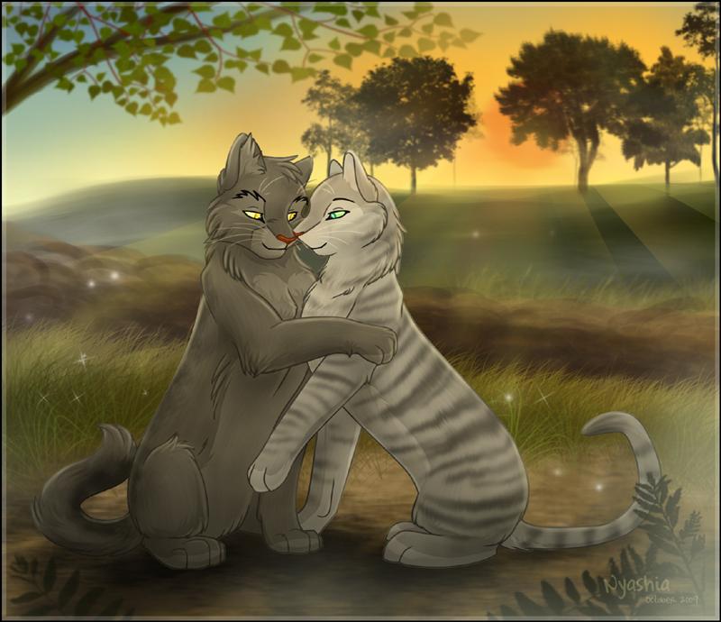 Картинка поцелуй котов воителей