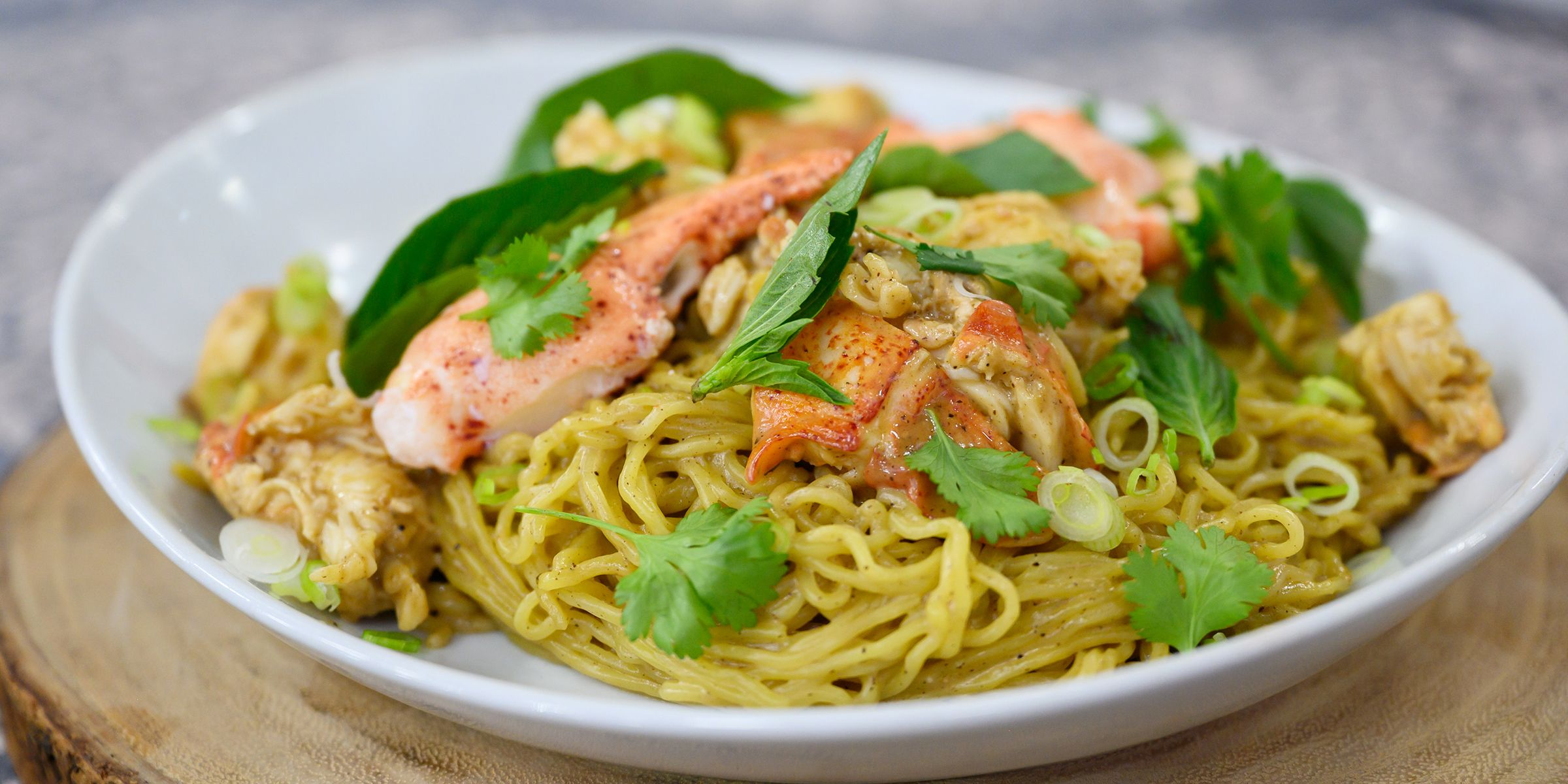 Lobster Noodles With Thai Basil Recipe Recipes Ramen Noodles