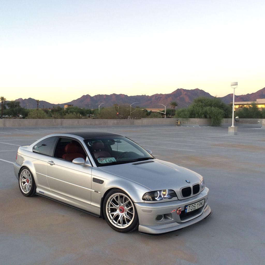 Bmw M3: FS: 2004 E46 M3 Silver On Imola Red. Centerlock Wheels