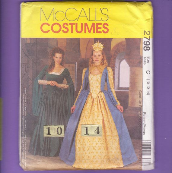 McCall's 2798 Size 10 12 14 Queen Elizabeth by FlashbackFinds