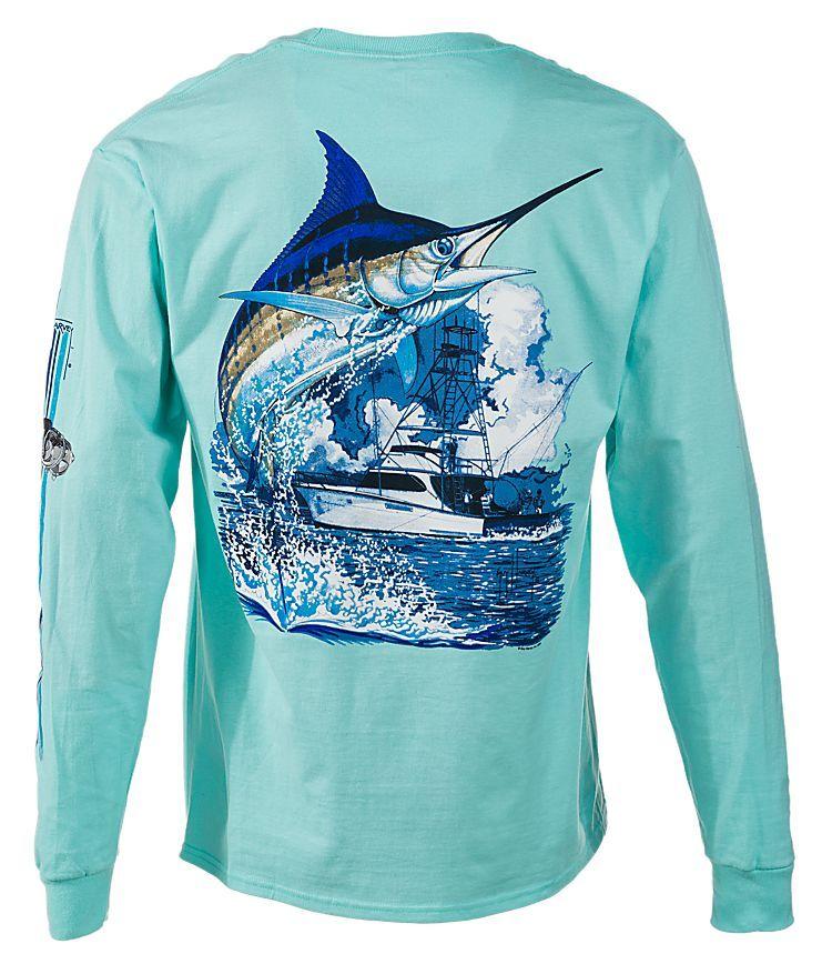 962b6e19 Guy Harvey Marlin Boat Long-Sleeve T-Shirt for Men | Bass Pro Shops ...