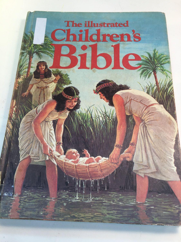 Book childrens bible illustrated vintage 1976 hardcover
