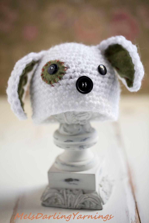 Newborn Baby Boy Crochet Puppy Dog Photo Prop Beanie Hat. $13.00 ...