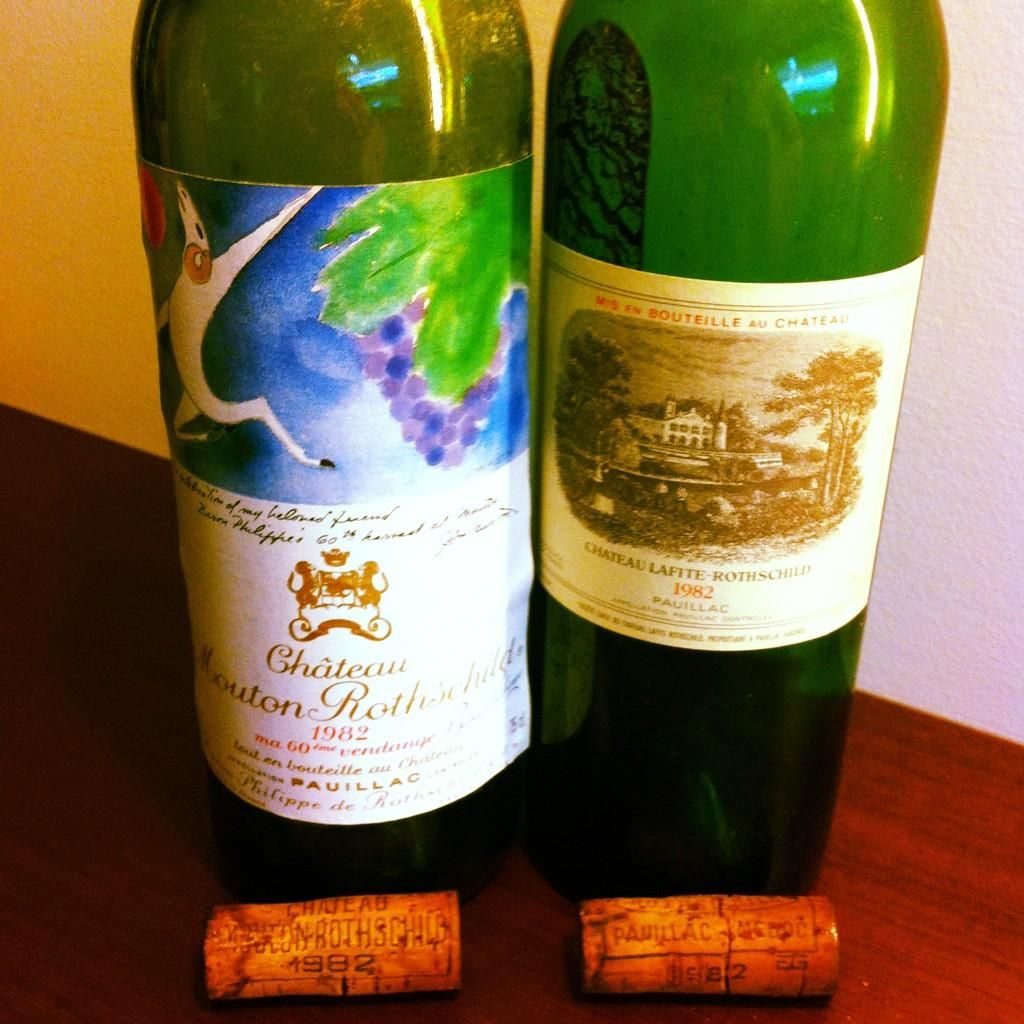 Mouton 82 Vs Lafite I Wish Had These Two Mythical Bottles