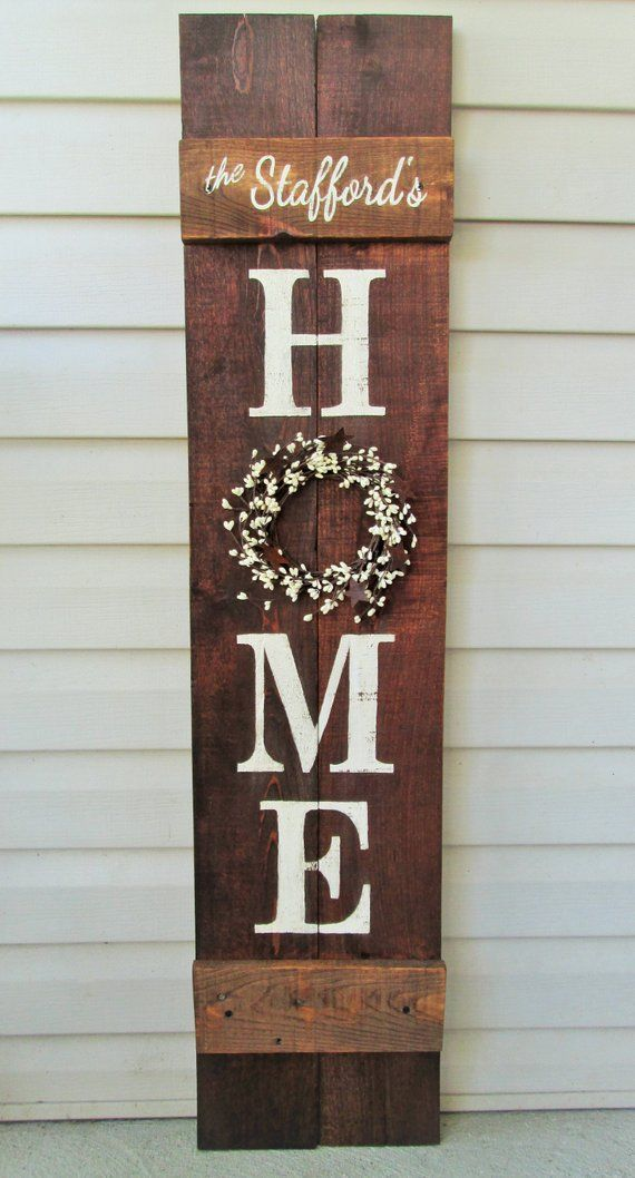 Mothers Day Gifts 2019 - Welcome Porch Sign 5' Rustic Hand Painted Reclaimed Wood #rusticporchideas