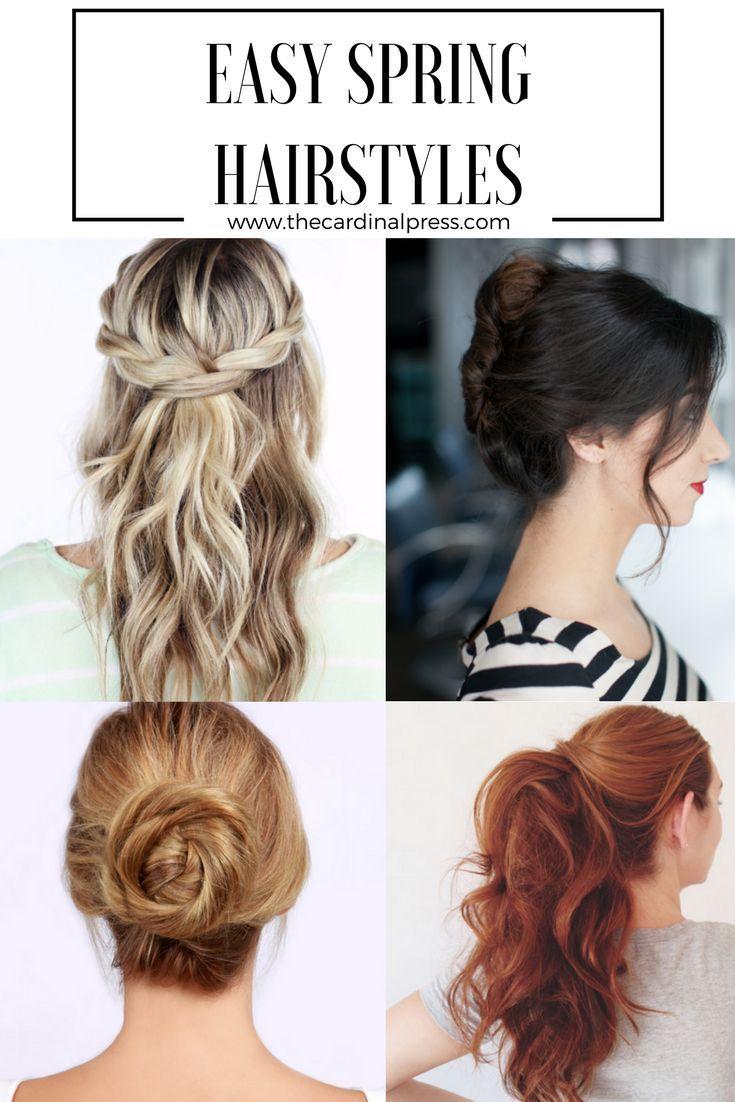 5 Easy Spring Hairstyles Spring Hairstyles Hair Styles Easy Hairstyles