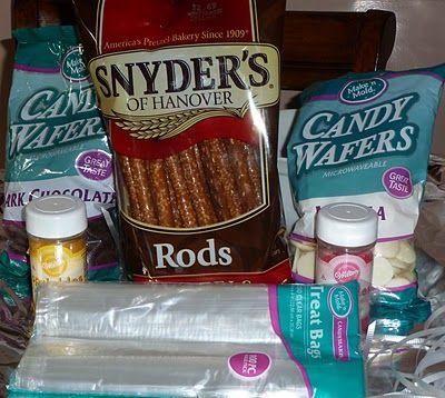 Baby Shower Decorations For Boys Pretzel Rods Ih3artblogspot
