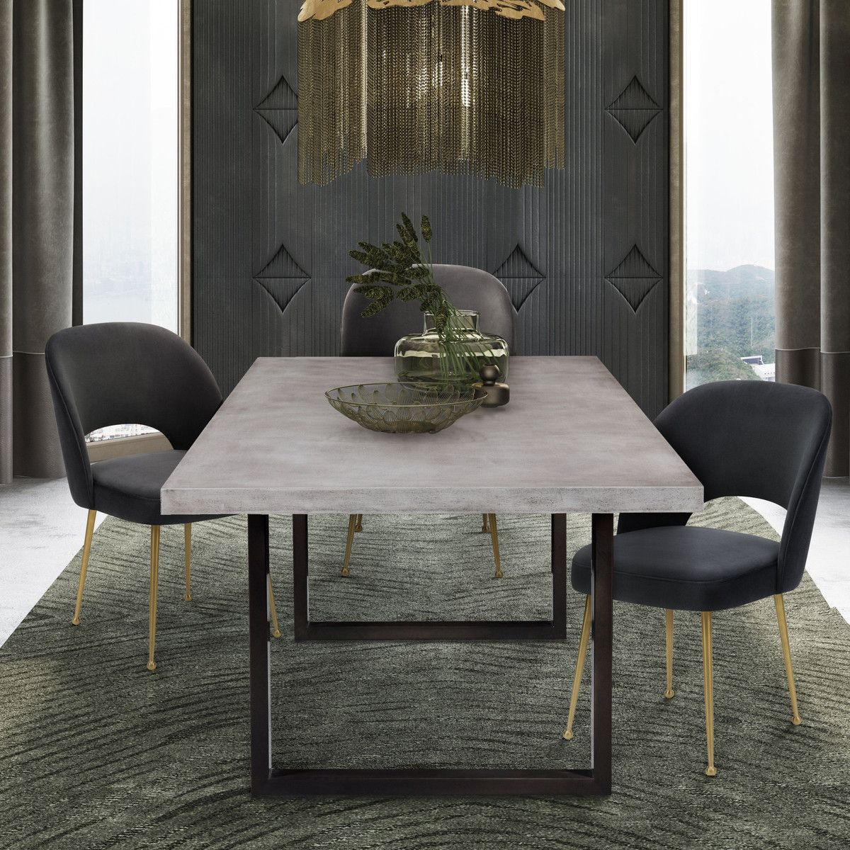 Edna Concrete Table Tov Allmodernoutlet Concrete Dining