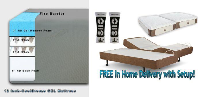 Dynasty Mattress Reviews Split King Coolbreeze Gel Foam Mattress