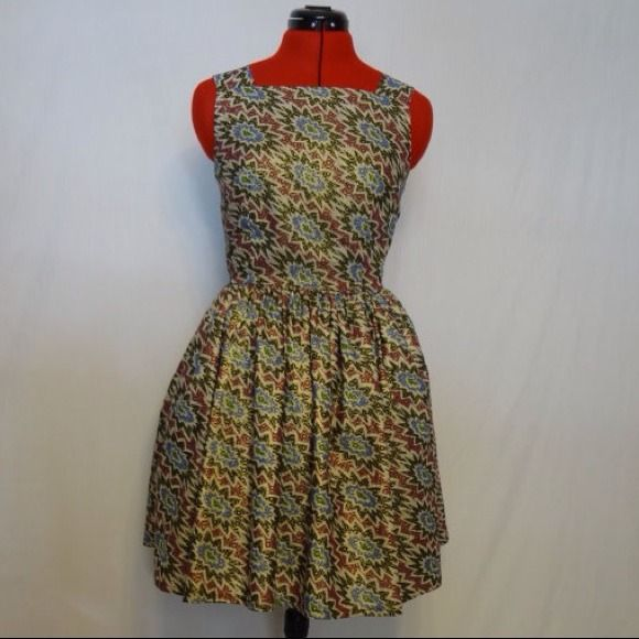 Authentic African Print Party Dress
