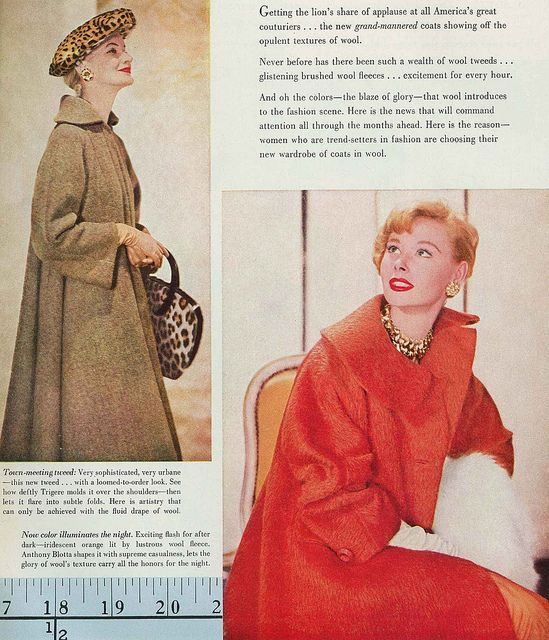 Classically lovely 1950s fall/winter coats. #vintage #fashion #1950s