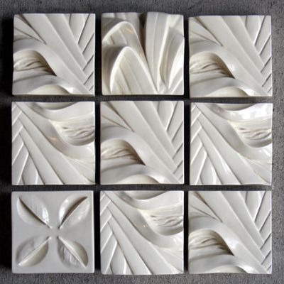 New zealand art and design bob steiner ceramics x9 set white
