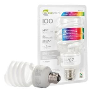 Ecosmart 100w Equivalent Daylight 5500k Spiral Full Spectrum Craft Cfl Light Bulb