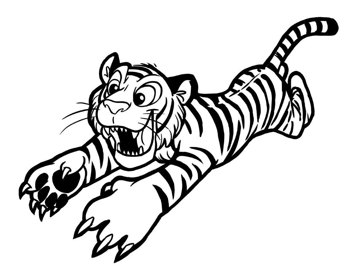 dibujo de tigre atacando buscas dibujos de tigres para colorear