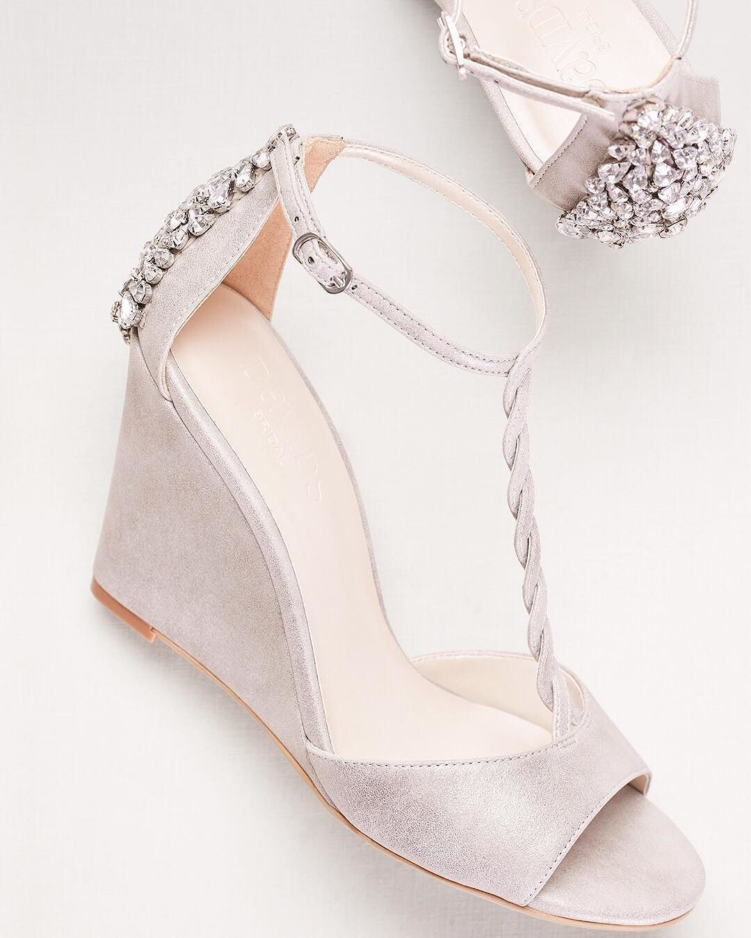 A Chic Wedge Is Perfect For Every Wedding Event Braided Details