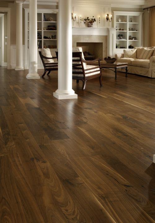 Distressed Walnut Flooring Wood Floor And Dark Wood Floor From Carlisle Wide Plank Wood Floors Wide Plank Living Room Wood Floor Walnut Hardwood Flooring