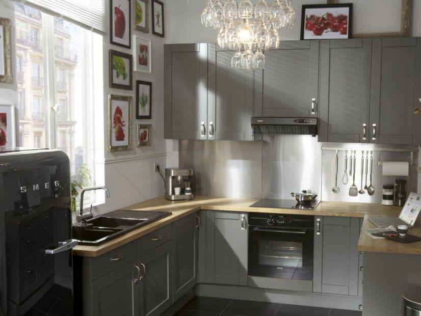 Cuisine grise - Mobilier, déco, électroménager  nos solutions - meuble de cuisine gris anthracite