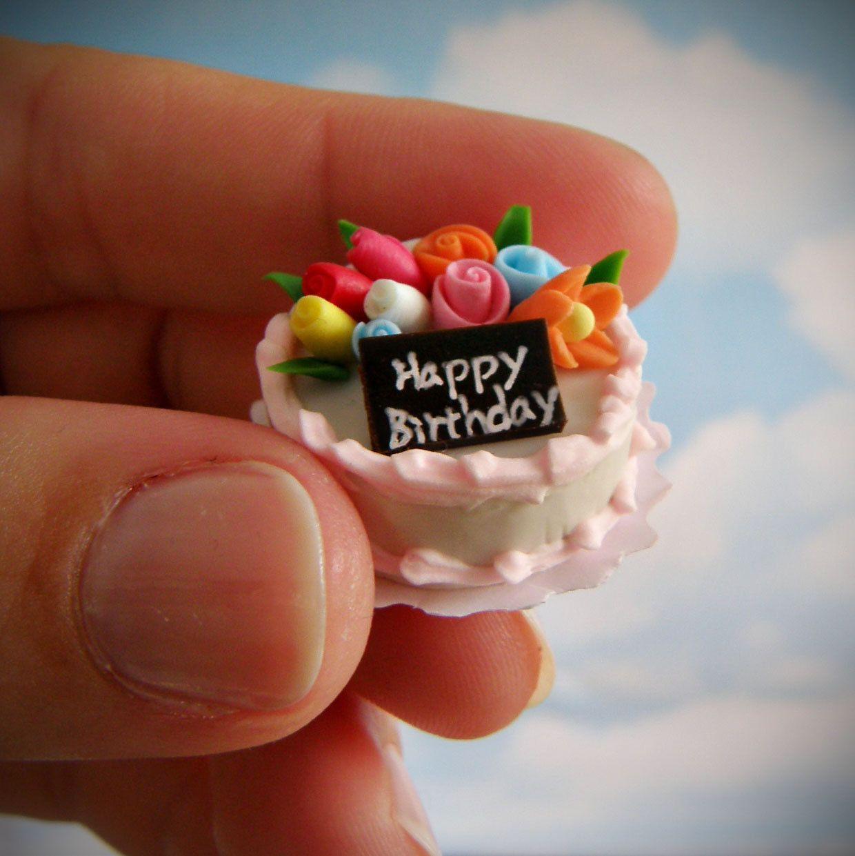 Swell Tiny Birthday Cake Google Birthday Miniatures Tiny Cakes Birthday Cards Printable Opercafe Filternl