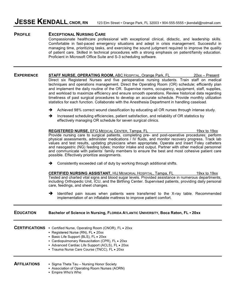 Sample Nursing Curriculum Vitae Templates  HttpWww