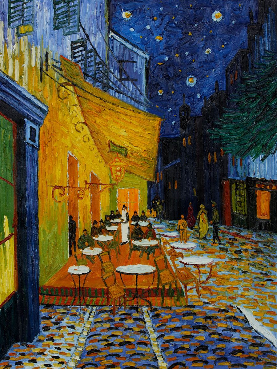 Vincent Van Gogh, Cafe Terrace at Night (Original Size) - Hand ...