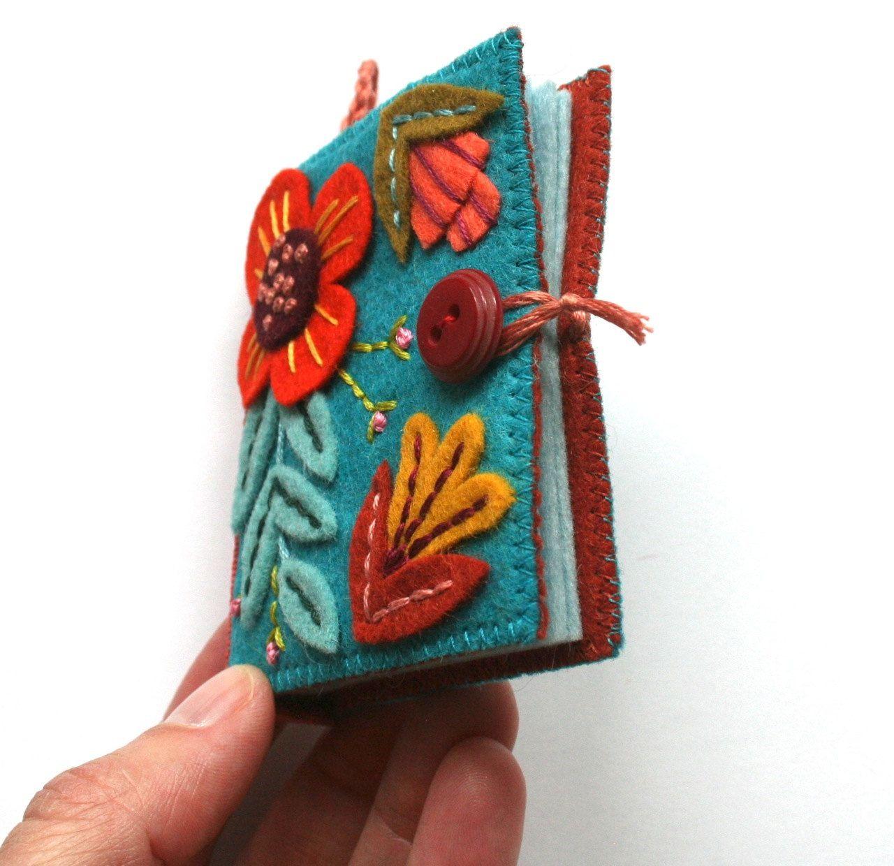 Flora needle book pdf pattern needle book fabric crafts