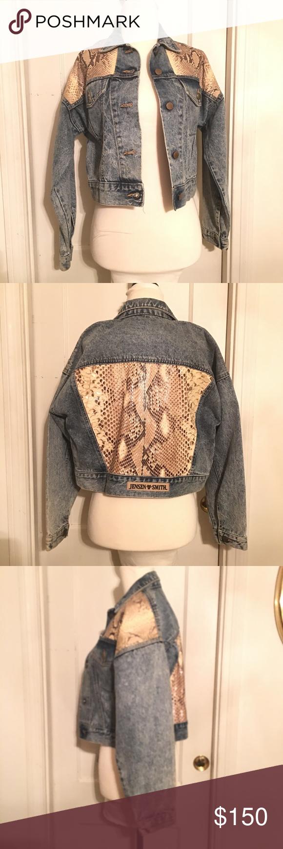 Vintage Genuine Snakeskin Jacket by Jensen Smith Pinterest