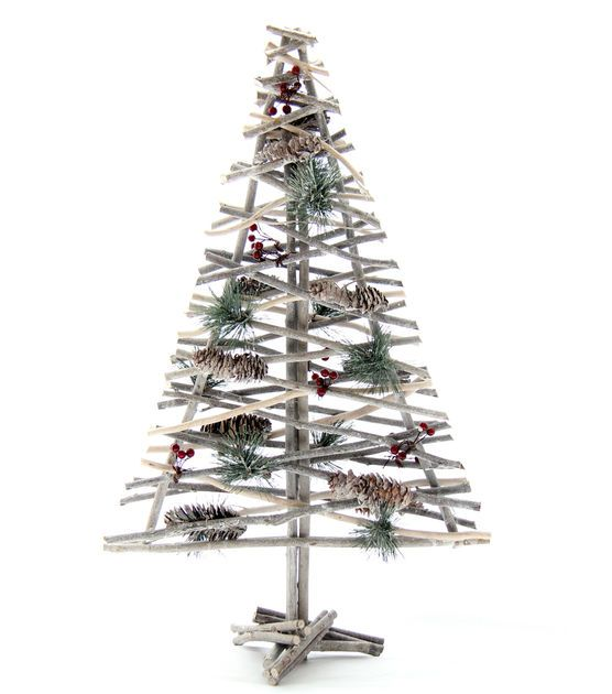 Blooming Holiday Large Twig Winter and xmas decor and diy