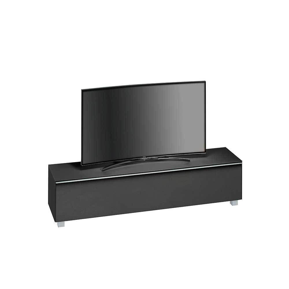 fernseh board awesome tv unterteil xenon schwarz glnzend mit wei rgb led beleuchtung x cm with. Black Bedroom Furniture Sets. Home Design Ideas