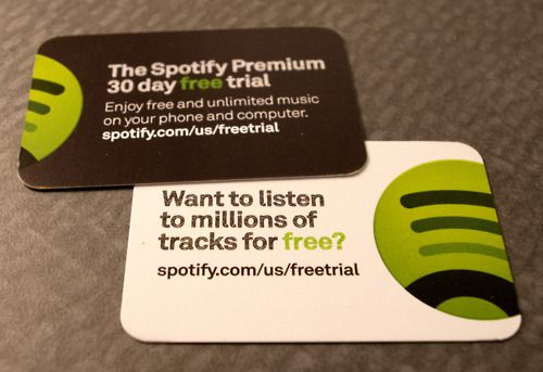 Free trial cards for spotify product business cards stock 16pt free trial cards for spotify product business cards stock 16pt gloss card reheart Choice Image