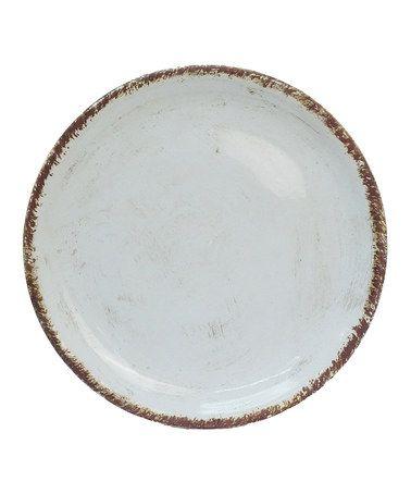 white weathered plate  www.hutgiftshoppe.com
