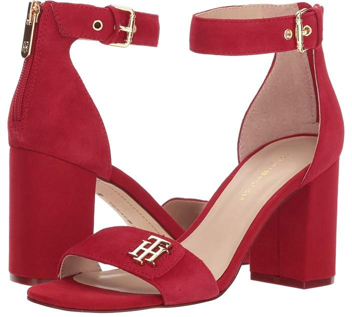 Women's Red Sandals by Tommy Hilfiger | Women's Fashion