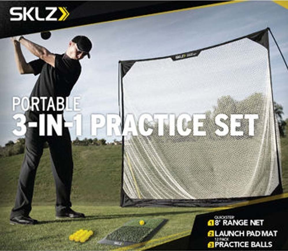 This Brand New Authentic Golf Practice Set Hitting Mat Driving Net And  Practice Balls By