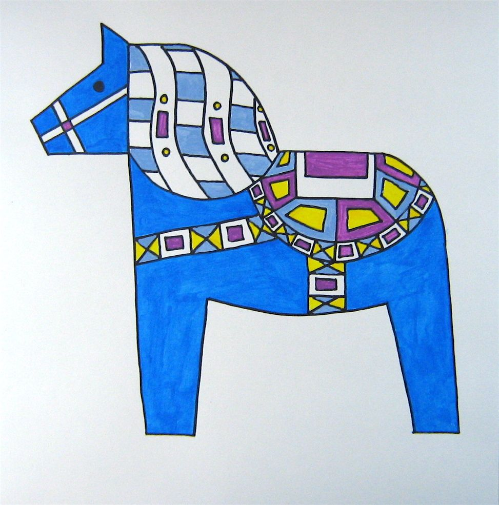 Art Lesson Ii 1 The Swedish Dala Horse The Director Of The