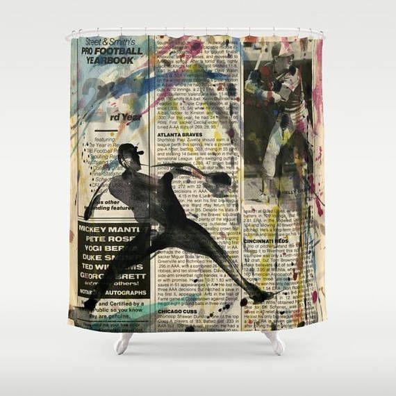 Baseball Shower Curtain By Kathy Morton Stanion