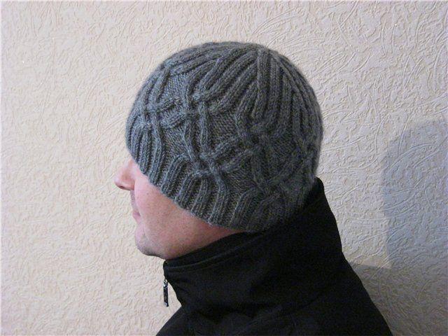 Мужская шапка спицами. Обсуждение на LiveInternet - Российский Сервис Онлайн-Дневников
