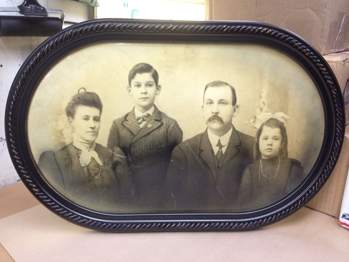 Antique family photo reframed with oblong frame we can also antique family photo reframed with oblong frame we can also provide convex curved glass for jeuxipadfo Images
